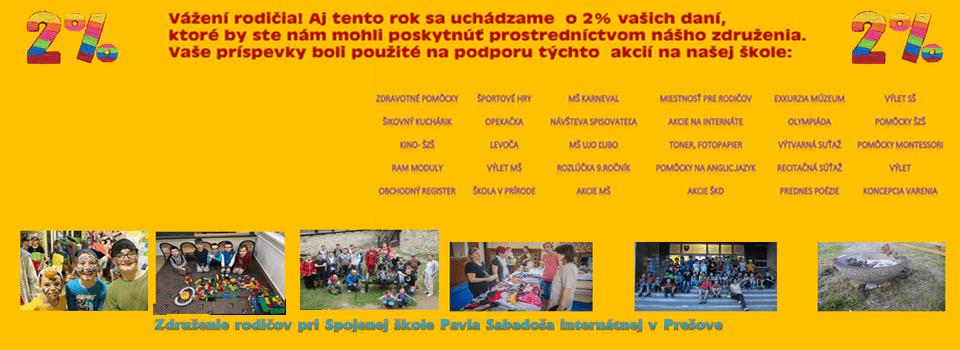 Darujte 2% z dani pre Združenie rodičov pri SŠPSI v Prešove