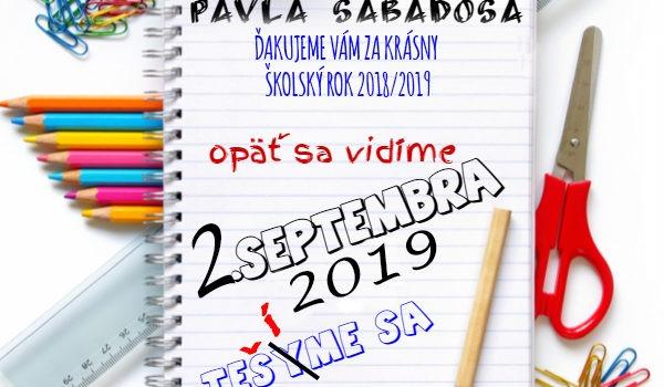 Ukončenie školského roka 2018/2019