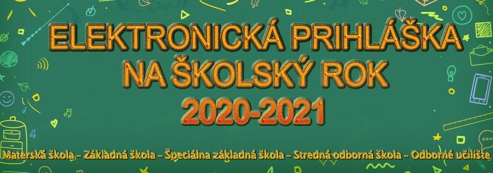 Elektronická prihláška na školský rok 2020/2021